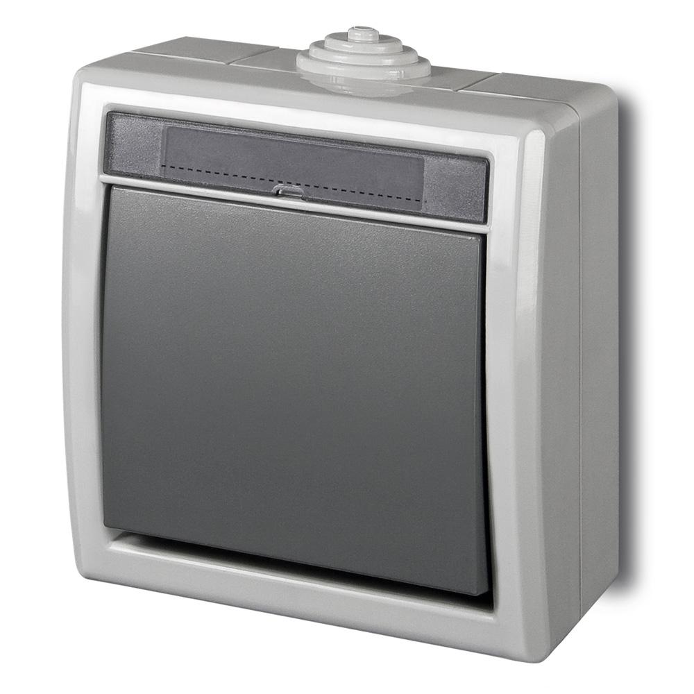 aufputz schalter steckdose feuchtraum weiss ip55 1 2 3 fach au enaufstellung ebay. Black Bedroom Furniture Sets. Home Design Ideas